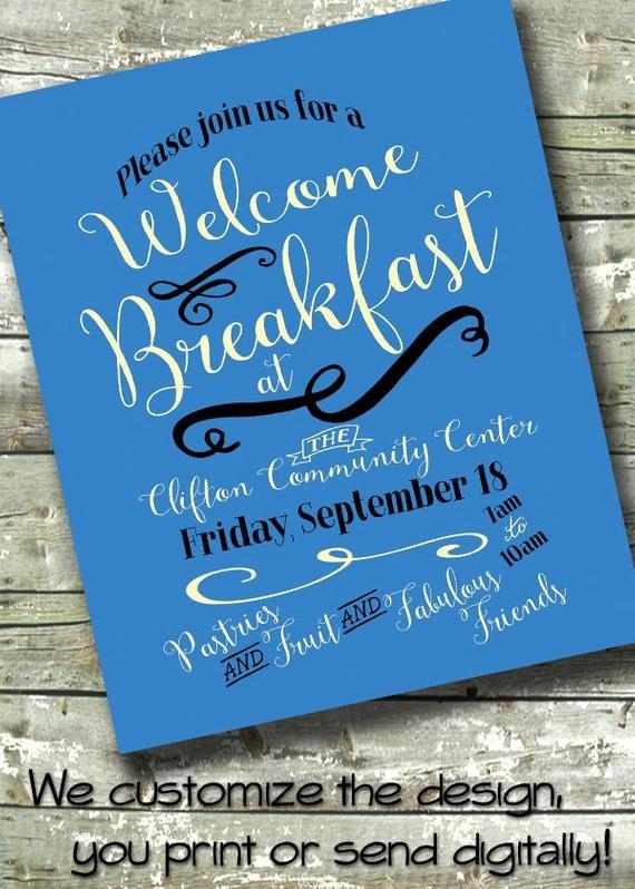 Meet and Greet Invitation Templates Inspirational Wel E Breakfast Morning Benefit Meet & Greet 5x7