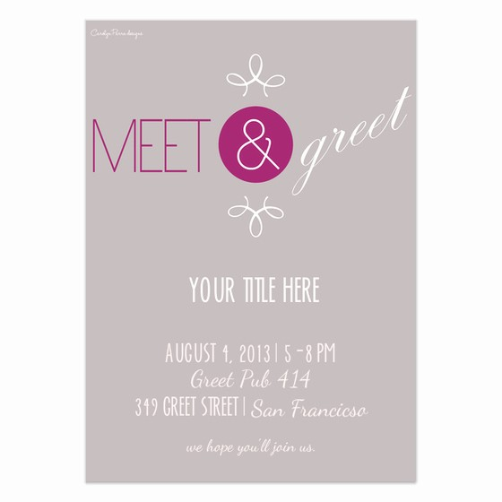 Meet and Greet Invitation Templates Lovely Meet & Greet Invitations & Cards On Pingg