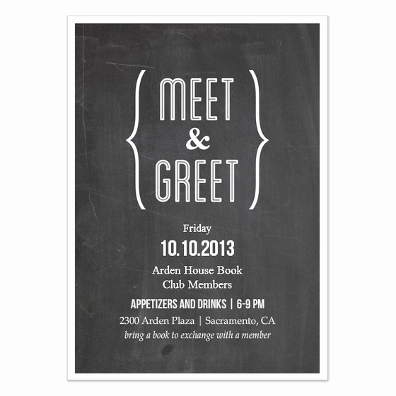 Meet and Greet Invitation Templates Lovely Meet and Greet Chalkboard Invitations & Cards On Pingg