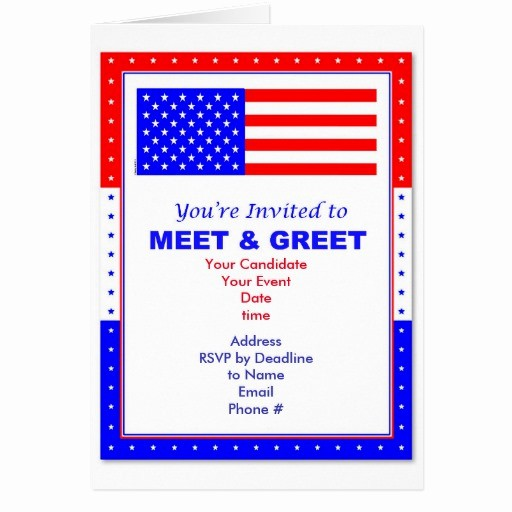 Meet and Greet Invitation Templates New Meet & Greet Political Invitation Greeting Card