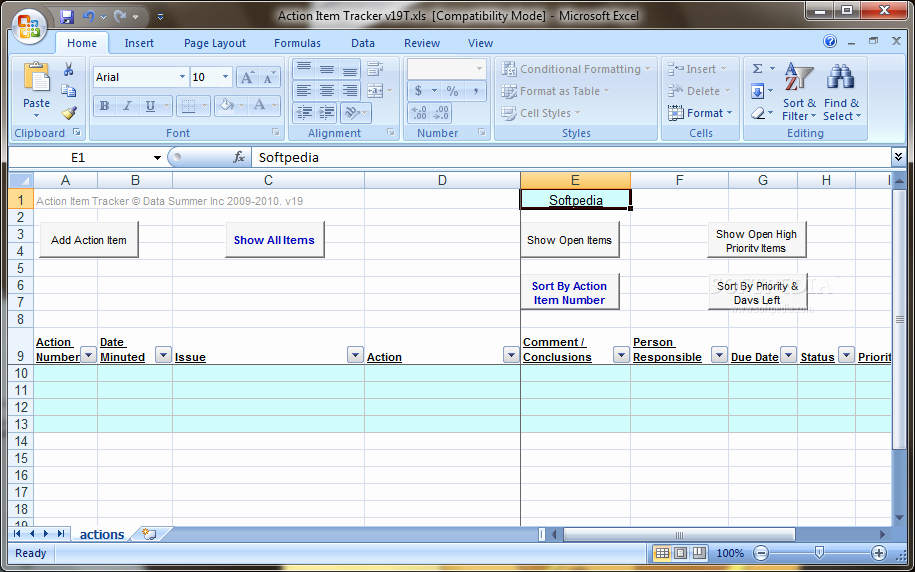 Meeting Action Items Tracker Excel Beautiful Download Action Item Tracker 19