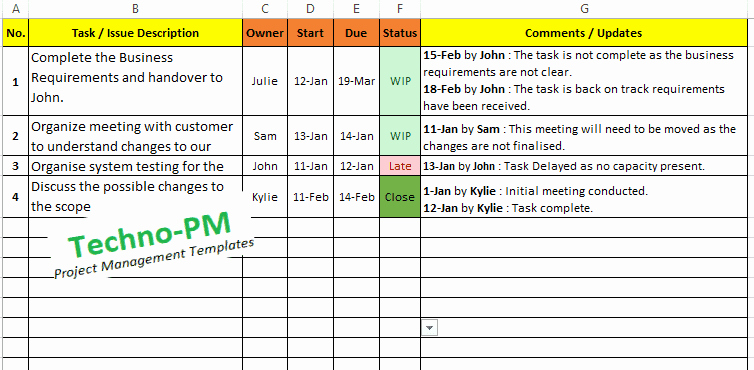 Meeting Action Items Tracker Excel Luxury Excel Task Tracker Template Downloads 6 Samples