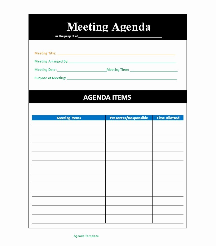 Meeting Agenda Template Word Free Fresh 51 Effective Meeting Agenda Templates Free Template