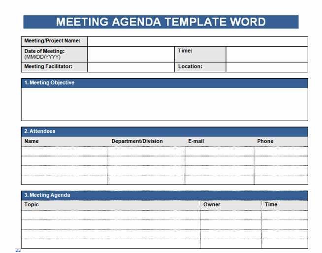 Meeting Agenda Template Word Free New Get Free Meeting Agenda Template In Word