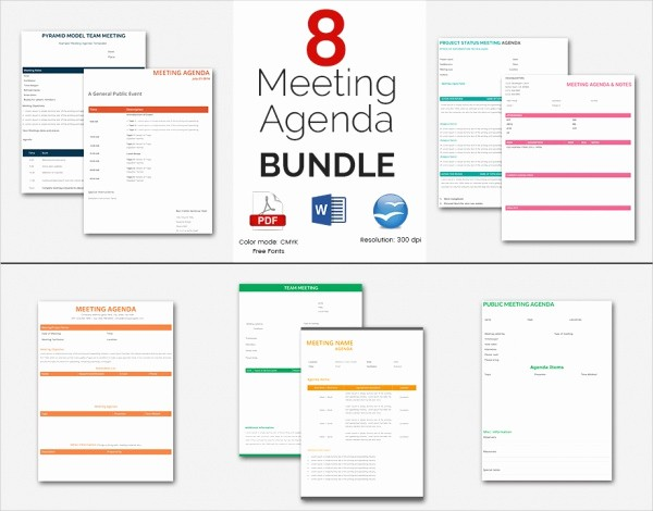 Meeting Agenda Template Word Free Unique 41 Agenda Templates