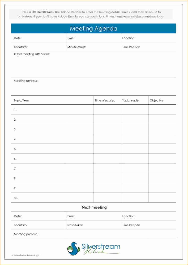 Meeting Agenda with Notes Template Awesome Pinterest