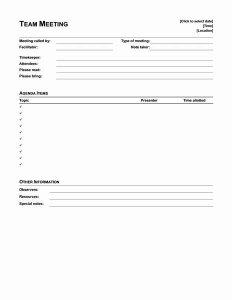 Meeting Agenda with Notes Template Lovely Meeting Minutes Fice Templates