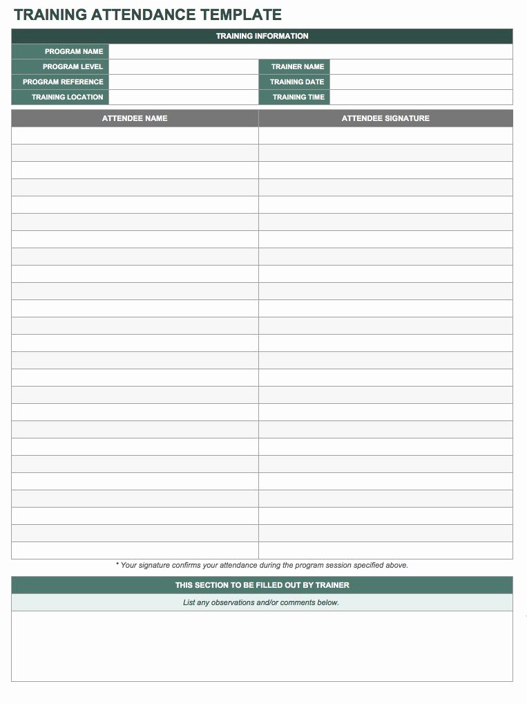 Meeting attendance Sheet Template Excel Best Of Free attendance Spreadsheets and Templates