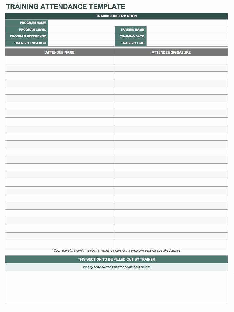 Meeting attendance Sheet Template Excel Best Of Free attendance Spreadsheets and Templates