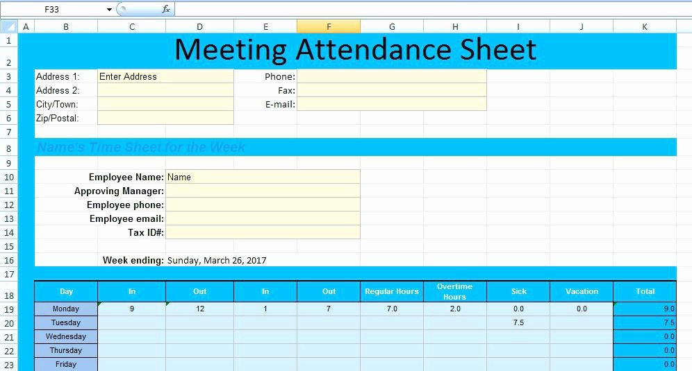 Meeting attendance Sheet Template Excel Lovely Meeting attendance form Template Na Sheet – Rightarrow