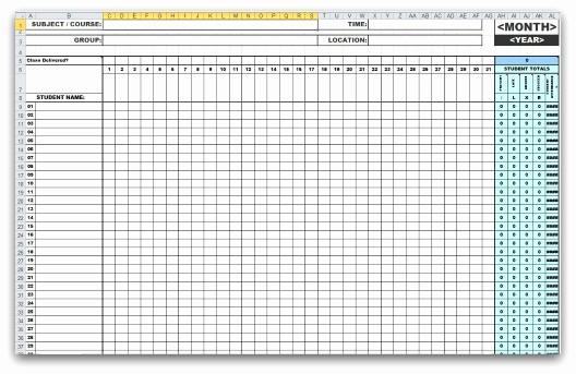 Meeting attendance Sheet Template Excel Luxury 46 Best attendance Sheet Template Examples for Classroom