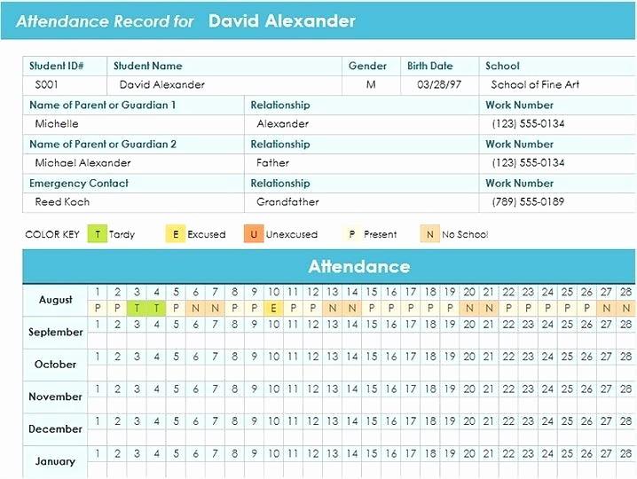 Meeting attendance Sheet Template Excel Unique attendance Template Excel Course attendance Excel Template
