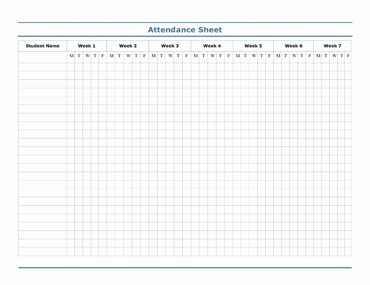 Meeting attendance Sign In Sheet Unique Meeting attendance Sheet Printable Template Aa