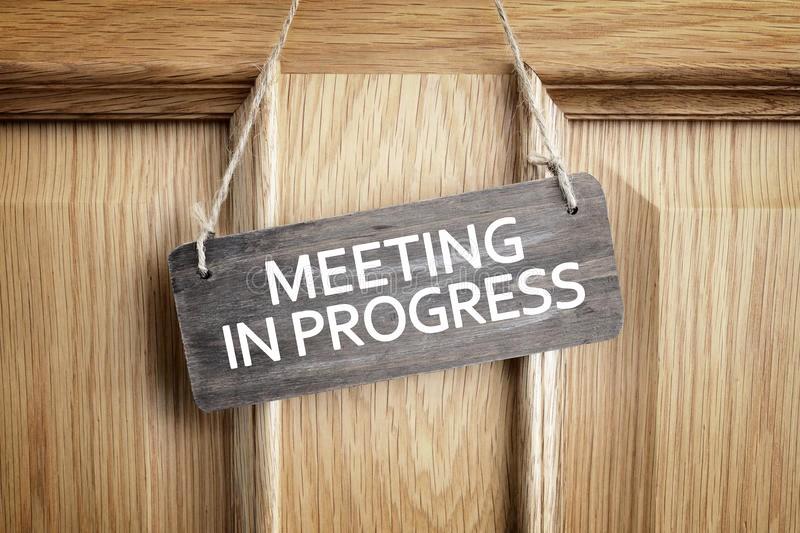 Meeting In Progress Door Signs Beautiful Meeting In Progress Sign Fice Door Stock