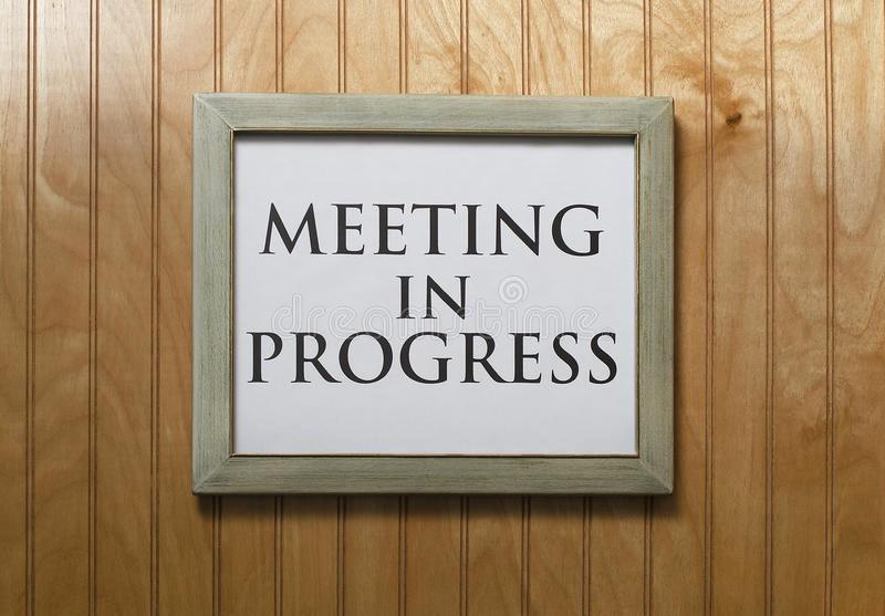 Meeting In Progress Door Signs Best Of Meeting In Progress Sign Royalty Free Stock Image