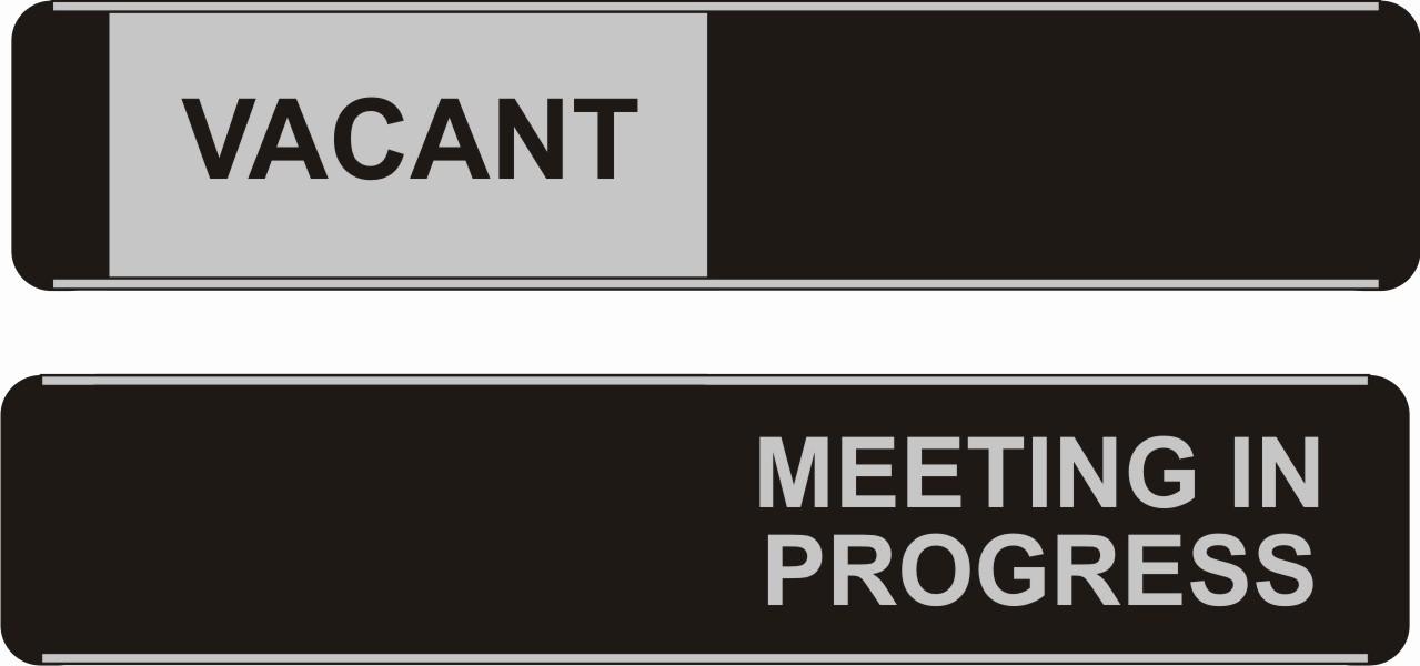 Meeting In Progress Door Signs Best Of Vacant Meeting In Progress Sliding Door Sign Safety Signs