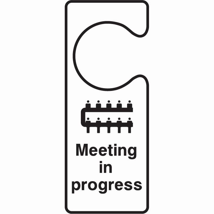 Meeting In Progress Door Signs Fresh Door Hanger Meeting In Progress Xtreme Signs