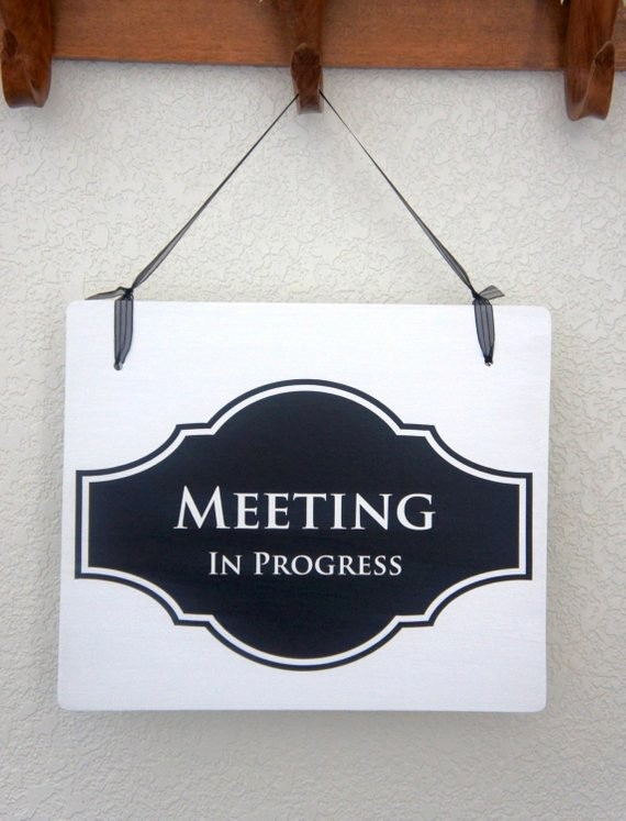 Meeting In Progress Door Signs Fresh Fice Door Sign Meeting In Progress Open Business Signage
