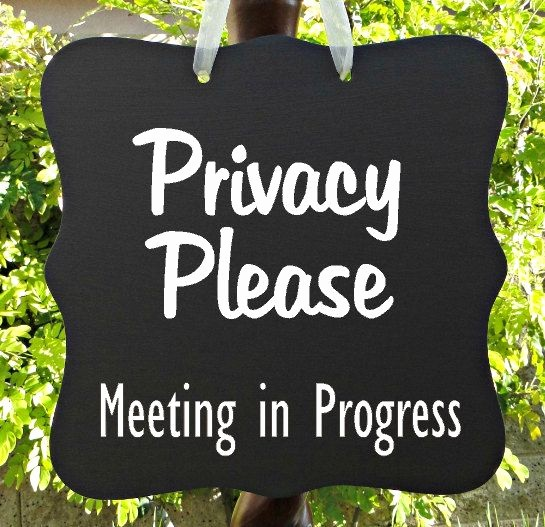 Meeting In Progress Door Signs Luxury Privacy Please Meeting In Progress Sign Business