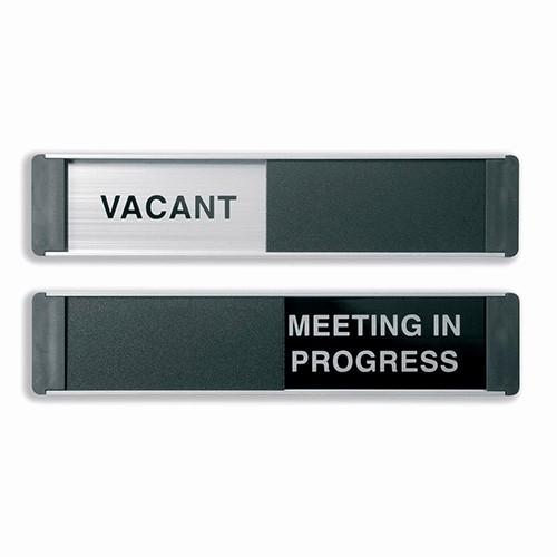 Meeting In Progress Door Signs New Stewart Superior Sliding Sign Vacant Meeting In Progress