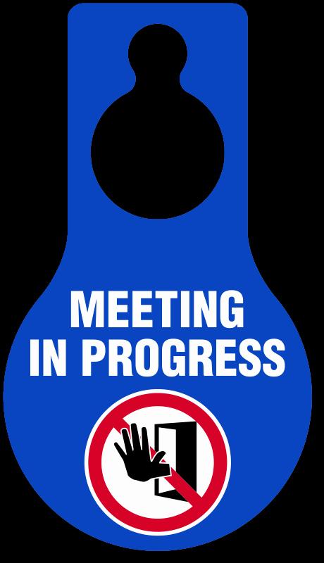 Meeting In Progress Door Signs Unique Template for Meeting In Progress Do Not Disturb Door Sign