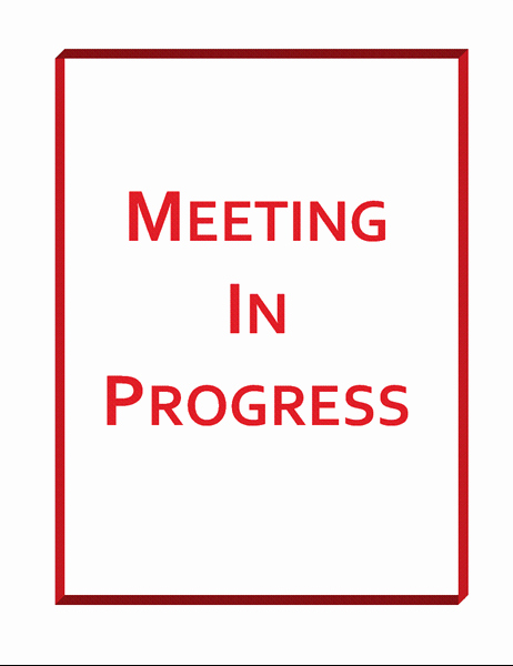 Meeting In Progress Sign Printable Best Of Meeting In Progress Sign