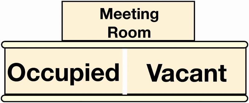 Meeting In Progress Sign Printable Elegant Sliding Door Meeting Room Occupied Vacant Sign