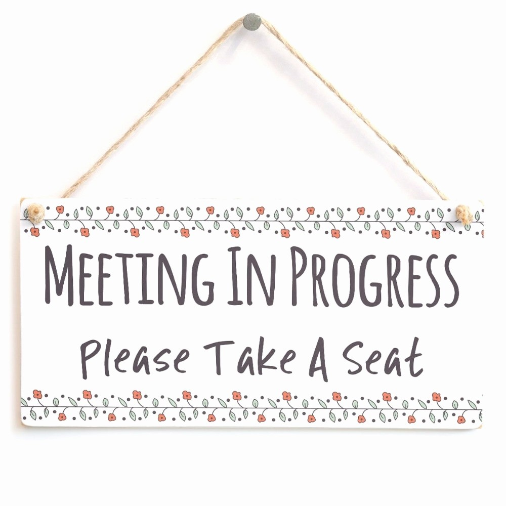 Meeting In Progress Sign Printable Lovely In A Meeting Sign for Door