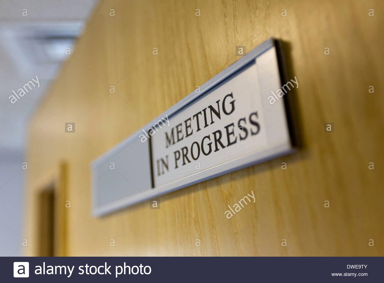 Meeting In Progress Sign Printable Lovely Meeting In Progress Pertamini