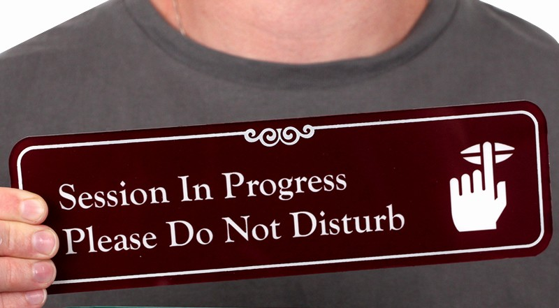 Meeting In Progress Sign Printable New Session In Progress Do Not Disturb Showcase Sign 3 X 10