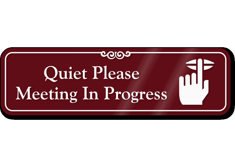 Meeting In Session Door Sign Awesome Capri News