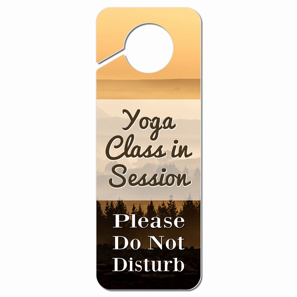 Meeting In Session Door Sign Awesome Do Not Disturb Plastic Door Knob Hanger Sign Yoga Class In