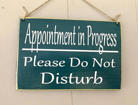 Meeting In Session Door Sign Beautiful Appointment In Progress Please Do Not Disturb 10x8 Choose