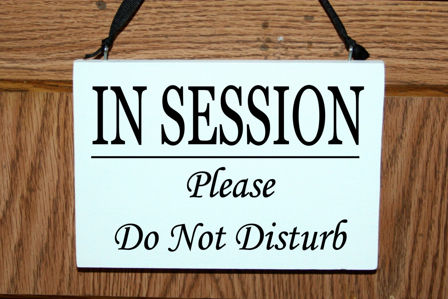 Meeting In Session Door Sign New Bad Mood Do Not Disturb