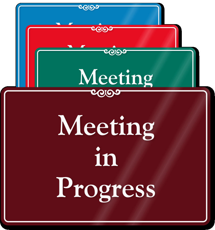 Meeting In Session Door Sign New In Session Signs