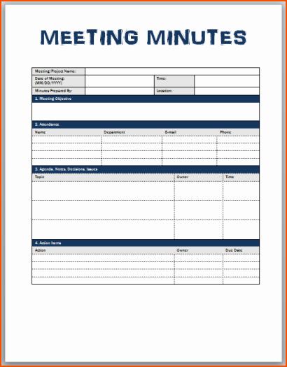 Meeting Minute Template Word 2010 Beautiful Sample Meeting Minutes Template Word to Pin On