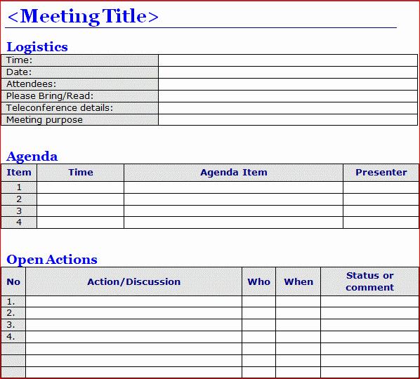 Meeting Minute Template Word 2010 Fresh Minutes Of Meeting Template Word