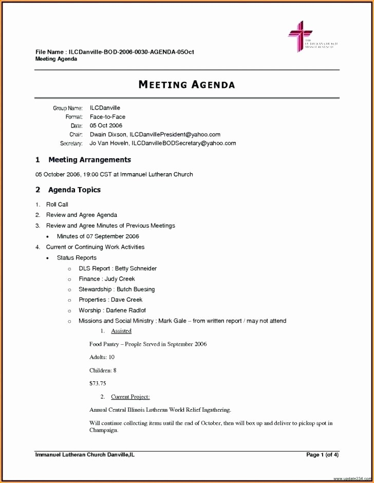 Meeting Minute Template Word 2010 Lovely Fancy Agenda Template Word 2010 Pattern Wordpress themes