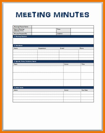 Meeting Minutes Template Microsoft Word Best Of Meeting Minutes format Word Nisartmacka
