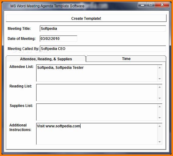 Meeting Minutes Template Microsoft Word Inspirational Word Agenda Template