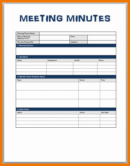 Meeting Notes Template for Word Awesome Meeting Minutes format Word Nisartmacka