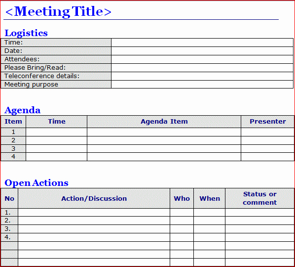 Meeting Notes Template for Word Elegant Minutes Of Meeting Template Word