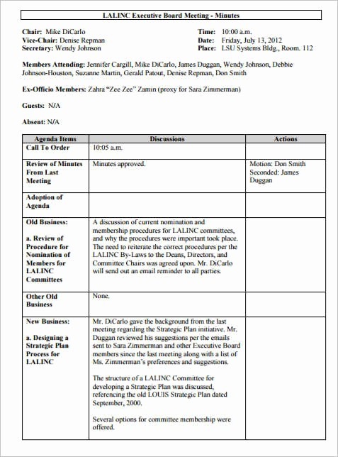 Meeting Notes Template for Word Lovely 36 Meeting Minutes Template Free Word Pdf Doc Excel