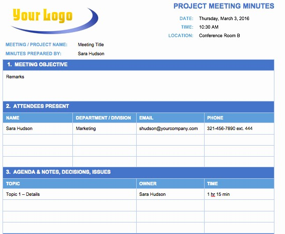 Meeting Notes Template for Word Lovely Free Meeting Minutes Template for Microsoft Word