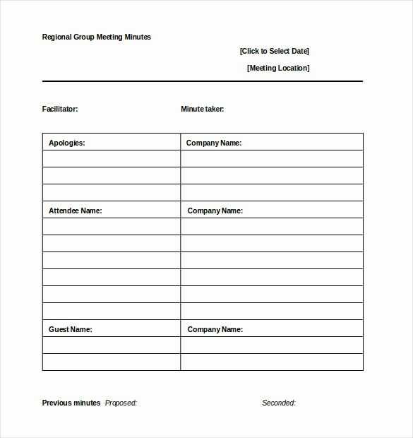 Meeting Notes Template for Word Luxury 22 Minutes Templates Word Excel Pdf