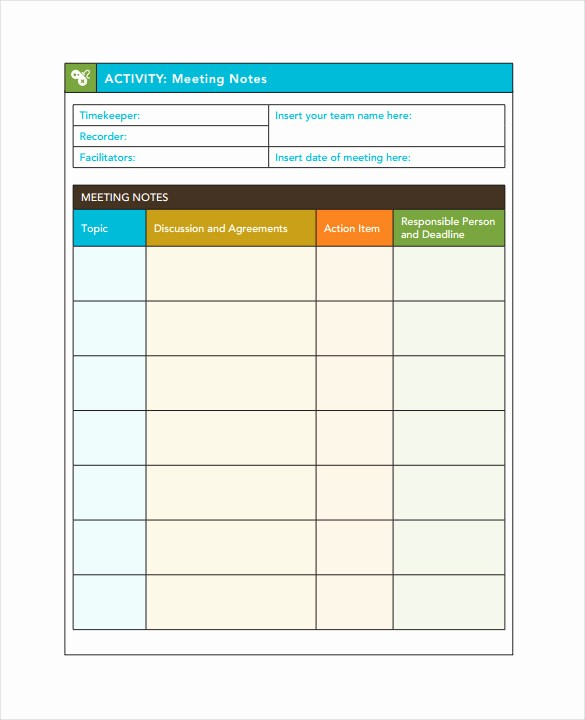 Meeting Notes Template for Word Unique Meeting Notes Template 28 Free Word Pdf Documents