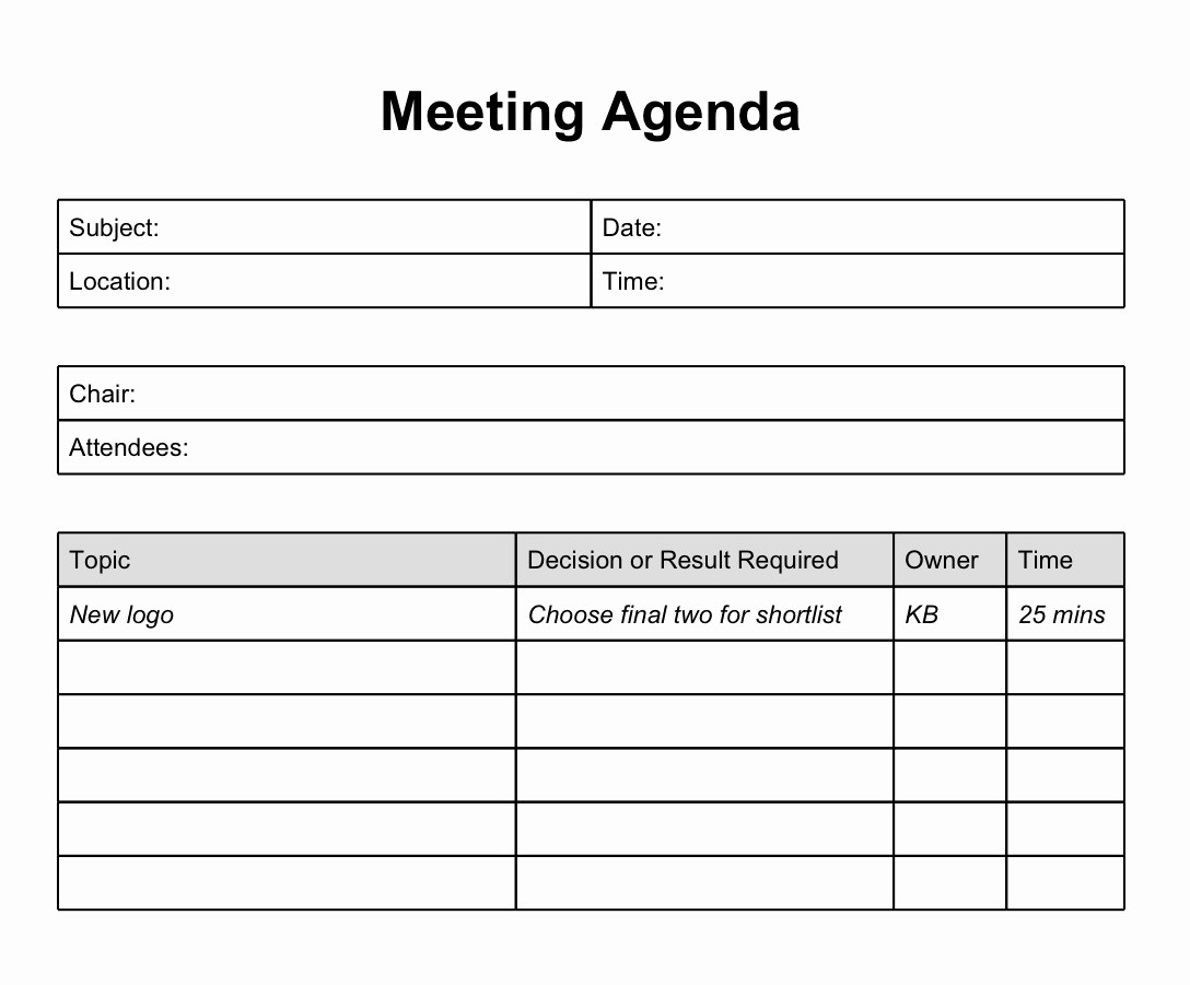 Meeting Notes Template for Word Unique Meeting Notes Template