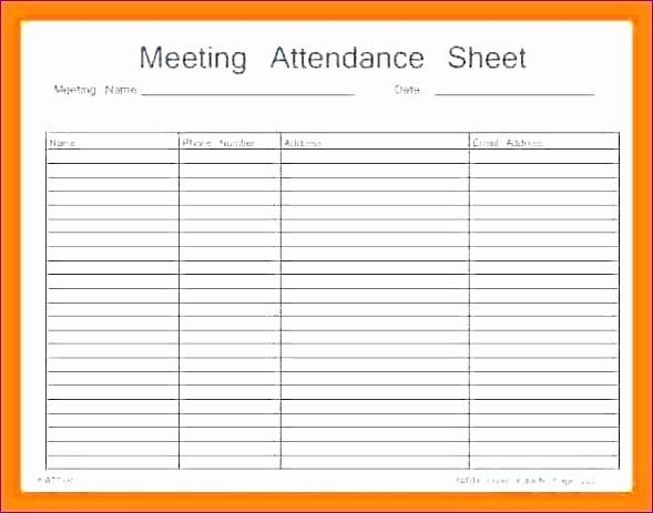 Meeting Sign In Sheet Excel Elegant It Meeting attendance Sheet Template Microsoft Word