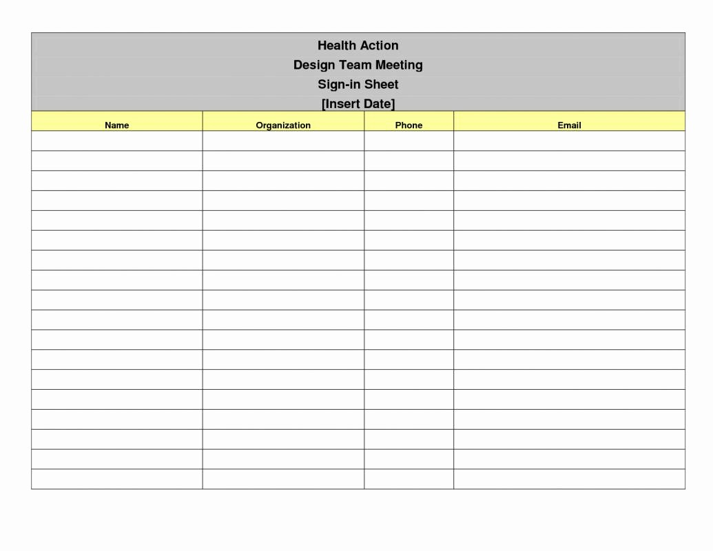 Meeting Sign Up Sheet Template Awesome Meeting Sign In Sheet