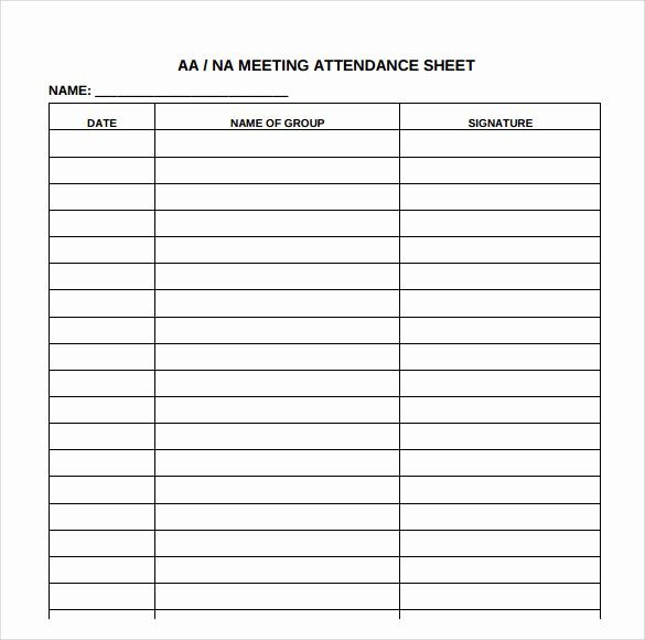 Meeting Sign Up Sheet Template Beautiful Aa